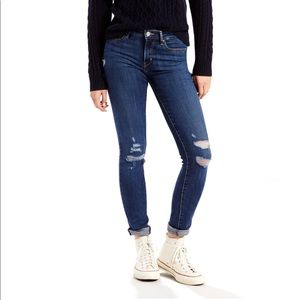Practically New 711 Levi Skinny Jeans